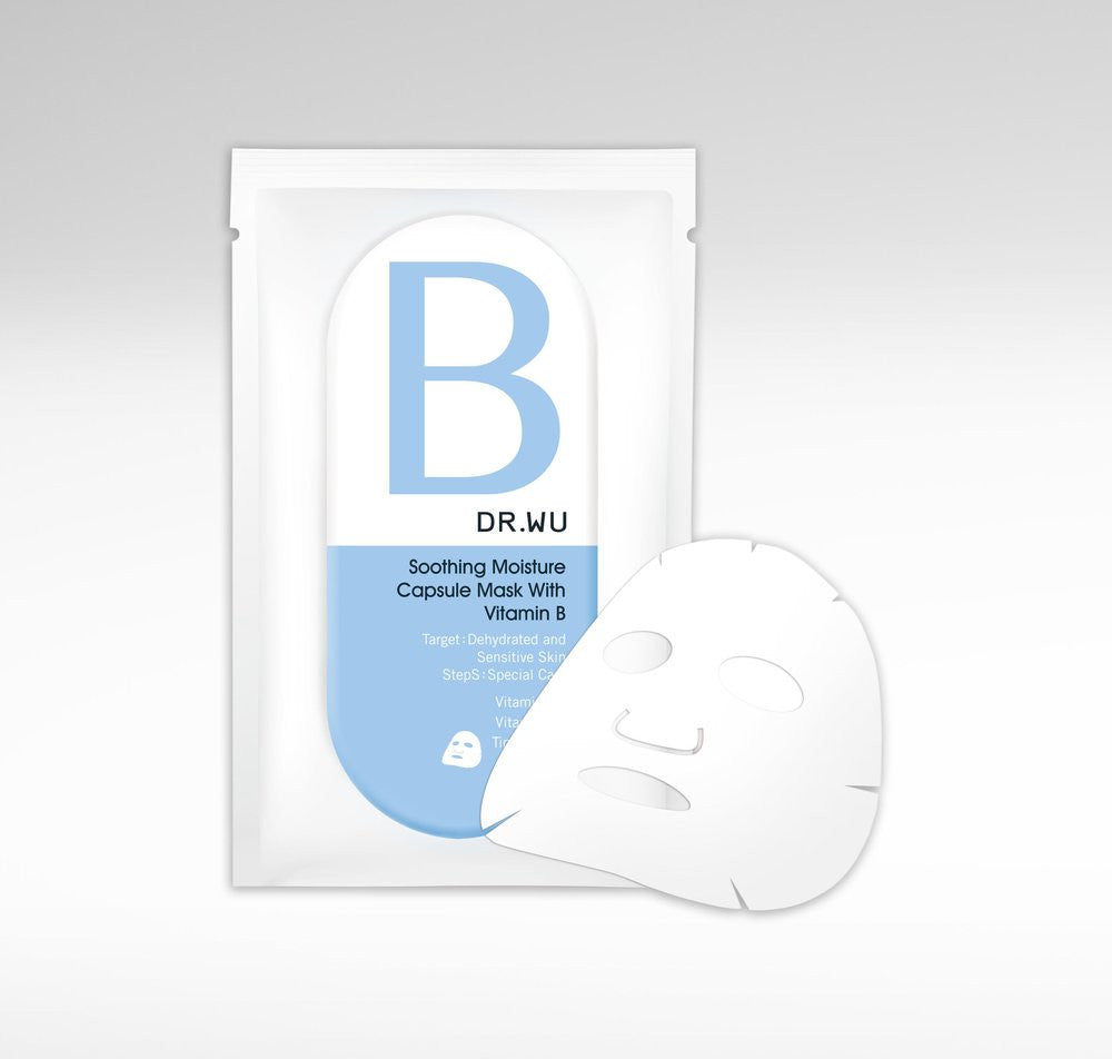 soothing moisture capsule mask with vitamin b, DR.WU Skincare