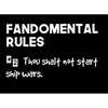 Fandomental Rules #2 Sticker - 3x4 in