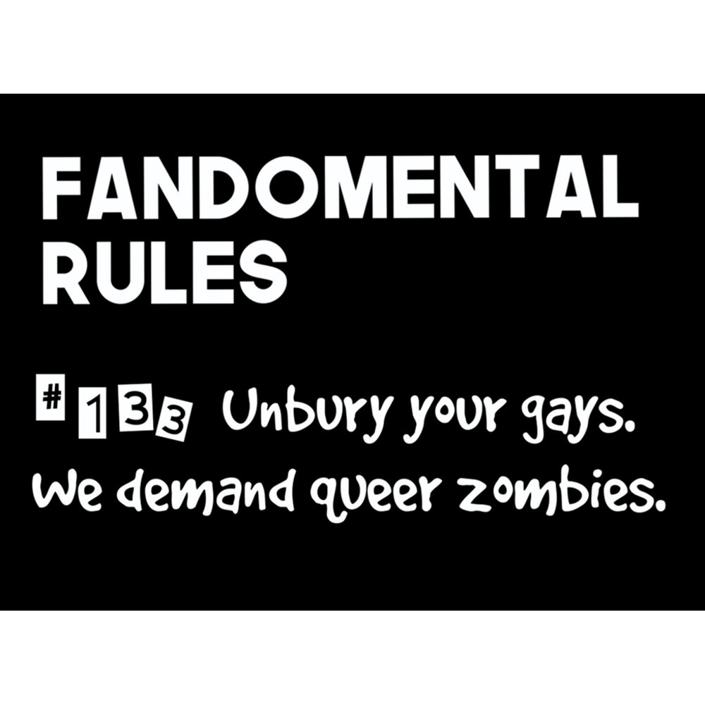 Fandomental Rules #133 Sticker - 3x4 in