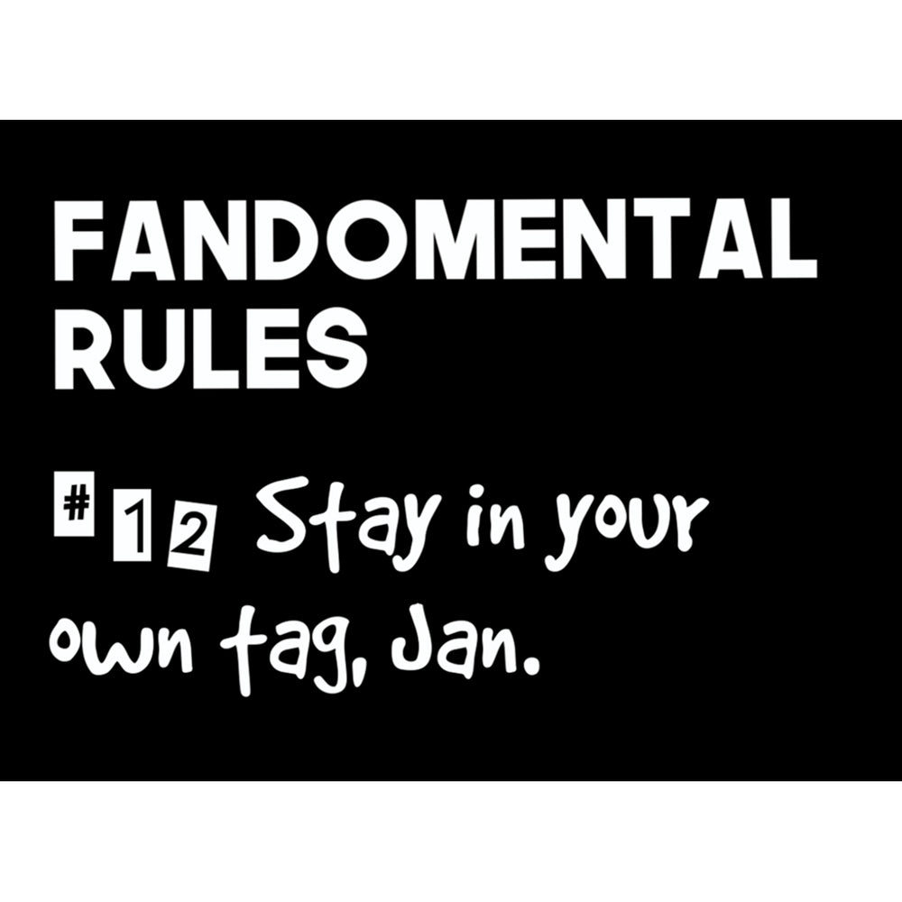 Fandomental Rules #12 Sticker - 3x4 in