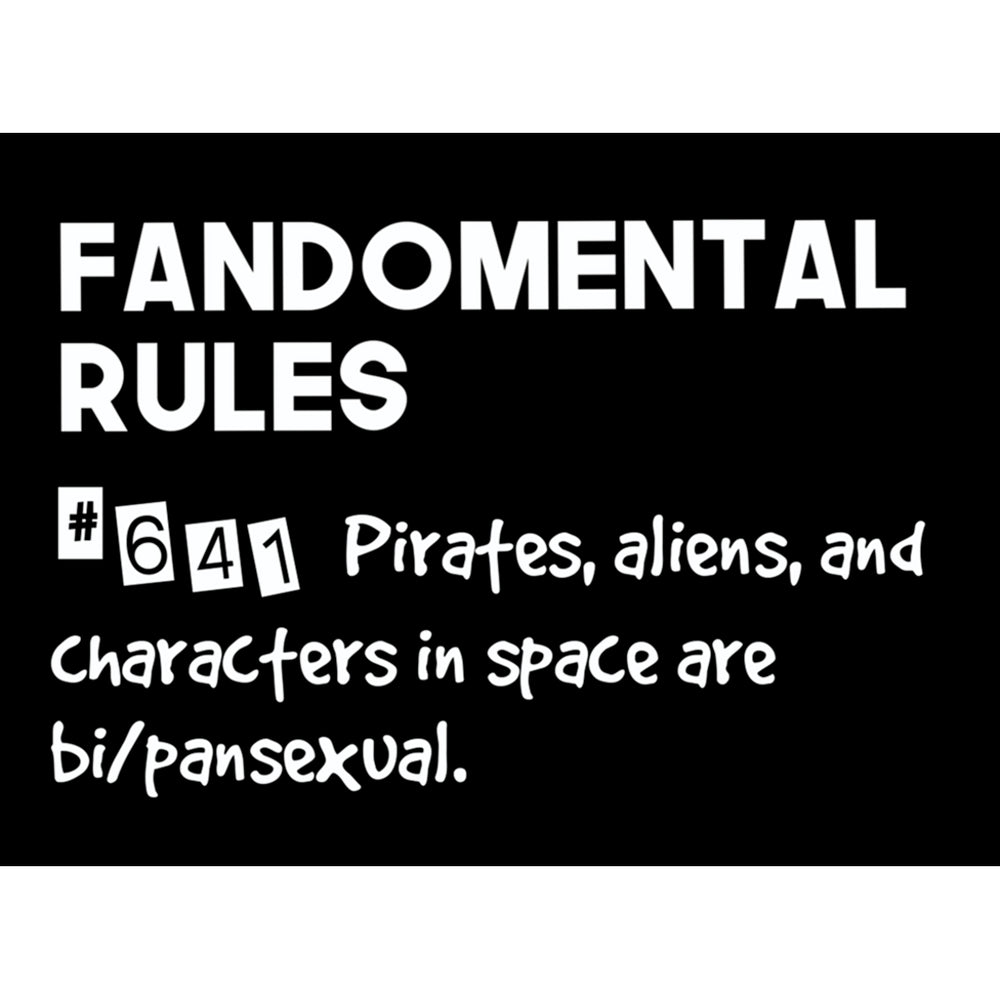 Fandomental Rules Group 1 - Sticker 5 Pack (3x4 in)