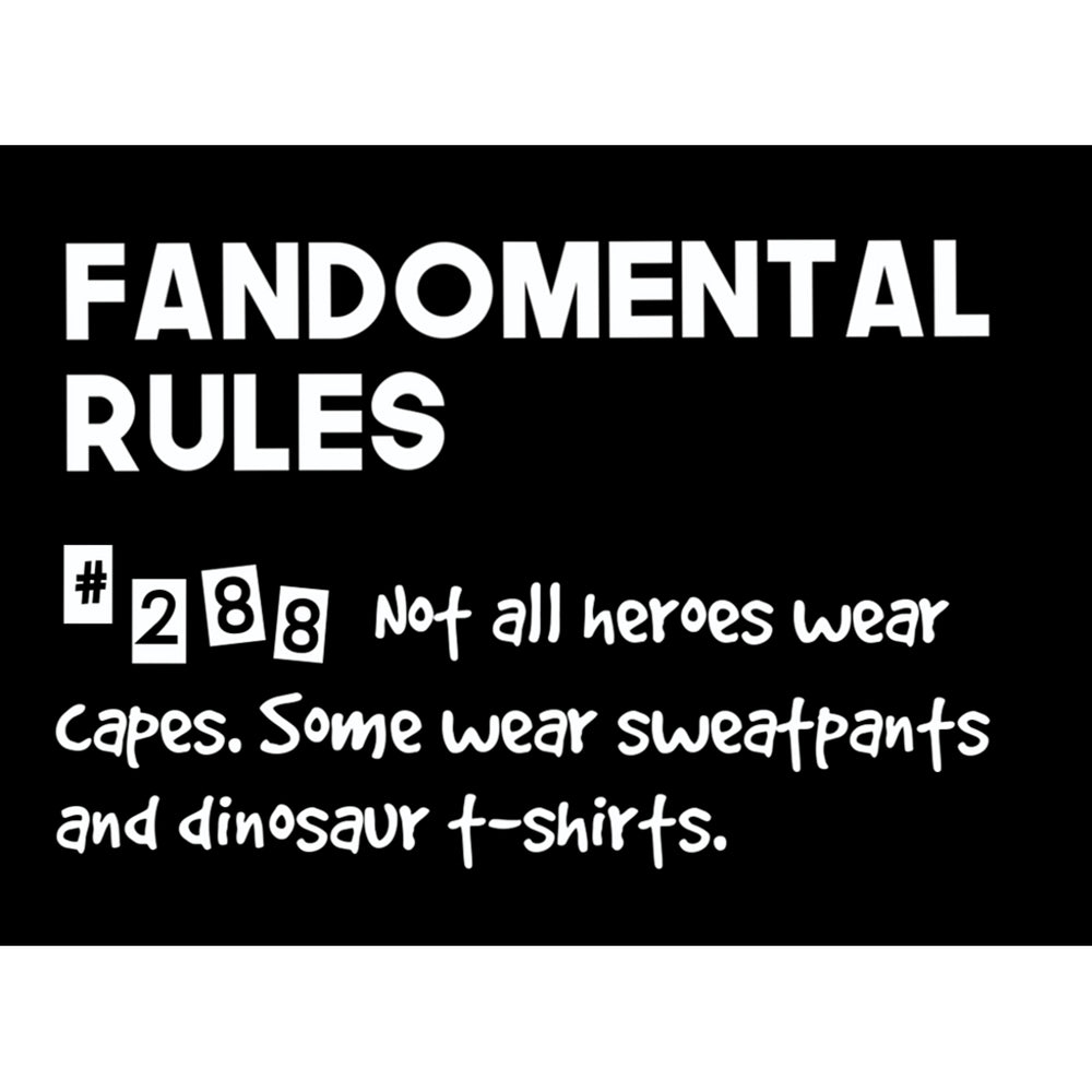 Fandomental Rules #288 Sticker - 3x4 in