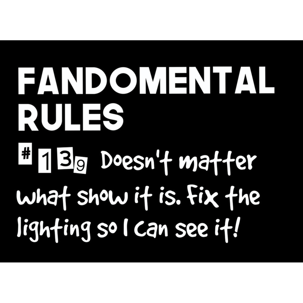 Fandomental Rules #139 Sticker - 3x4 in