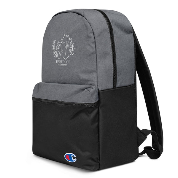 Faeforge Academy Embroidered Champion Backpack