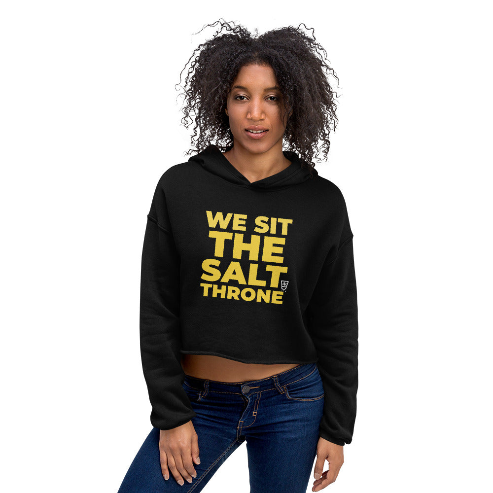Salt Throne Crop Hoodie