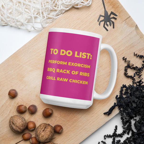 Warrior Nun To-Do List Mug