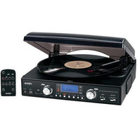 JENSEN JTA-460 3-Speed Stereo Turntable with MP3 Encoding System