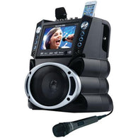 "KARAOKE USA GF840 DVD/CD+G/MP3+G Bluetooth(R) Karaoke System with 7"" TFT Color Screen"