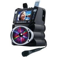 "KARAOKE USA GF842 DVD/CD+G/MP3+G Bluetooth(R) Karaoke System with 7"" TFT Color Screen & LED Sync Lights"