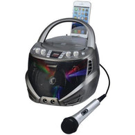 KARAOKE USA GQ263 Portable CD+G Karaoke Player with Flashing LED Lights