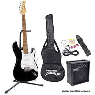Beginners Electric Guitar Kit, Includes Amplifier & Accessories (Black)