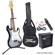 Beginners Electric Guitar Kit, Includes Amplifier & Accessories (Grey)