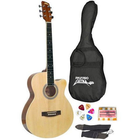 39'' Inch Beginner Jammer, Acoustic Guitar w/ Carrying Case & Accessories