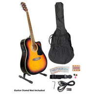 Acoustic-Electric Guitar - Full Scale Guitar with Accessory Kit
