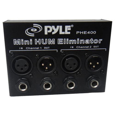 Hum/Noise Eliminator 2-Channel Box with XLR Jacks