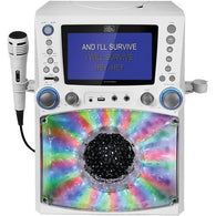 THE SINGING MACHINE STVG785W Classic Series CD/CD+G/MP3+G Karaoke Player with Lights