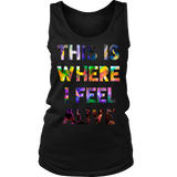 This Is Where I Feel Alive Concert Tank Top