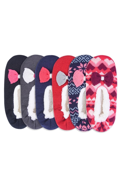 1398fb6ec01 Pack of 3 - Women Sherpa Lined Cozy Xmas Assorted Slippers – Scarf And  Beyond