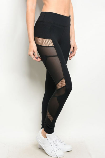 super service running shoes exceptional range of styles Women's Black Mesh Athletic Leggings