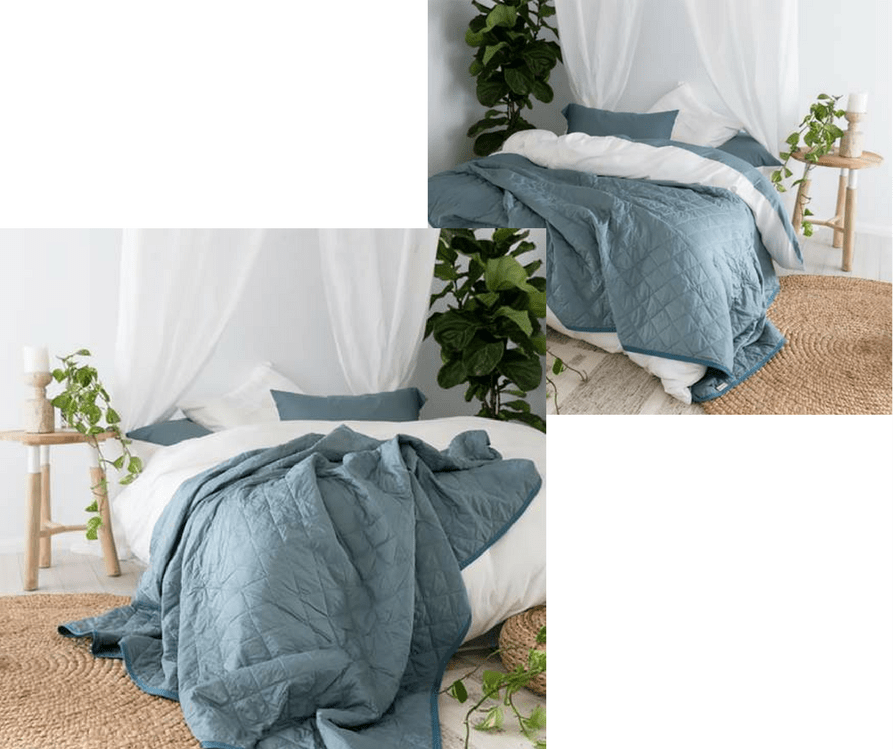 yohome bamboo Pewter quilt