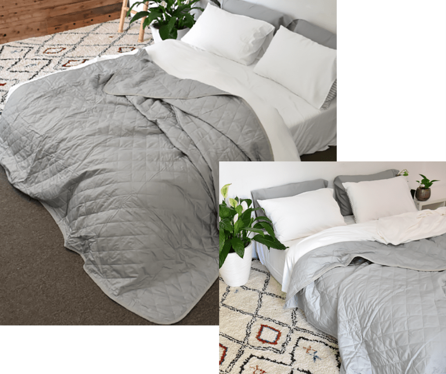 yohome bamboo quilt cover silver