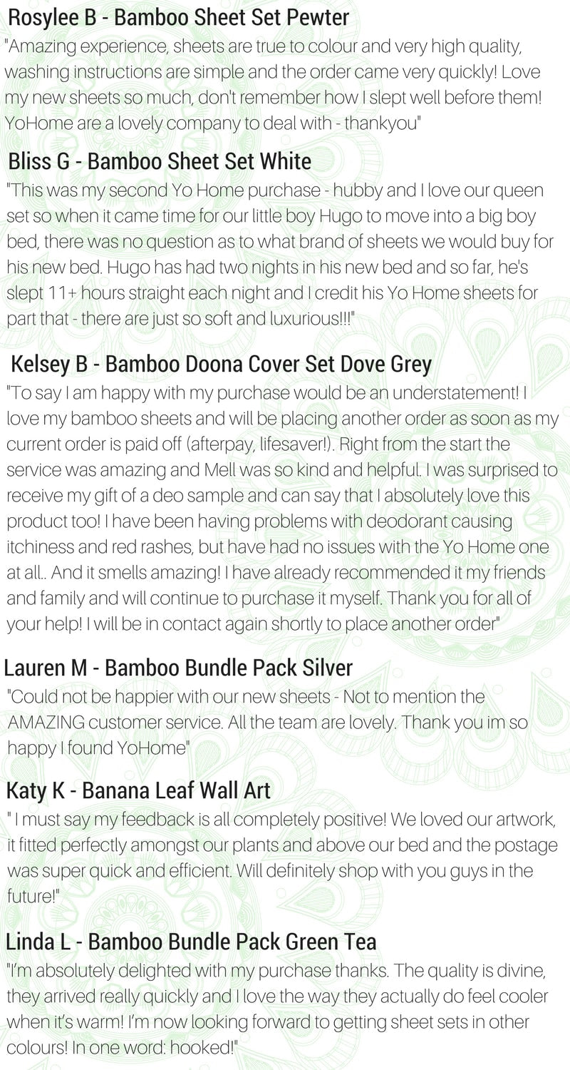 YoHome Customer Reviews - Bamboo Bedding & Apparel