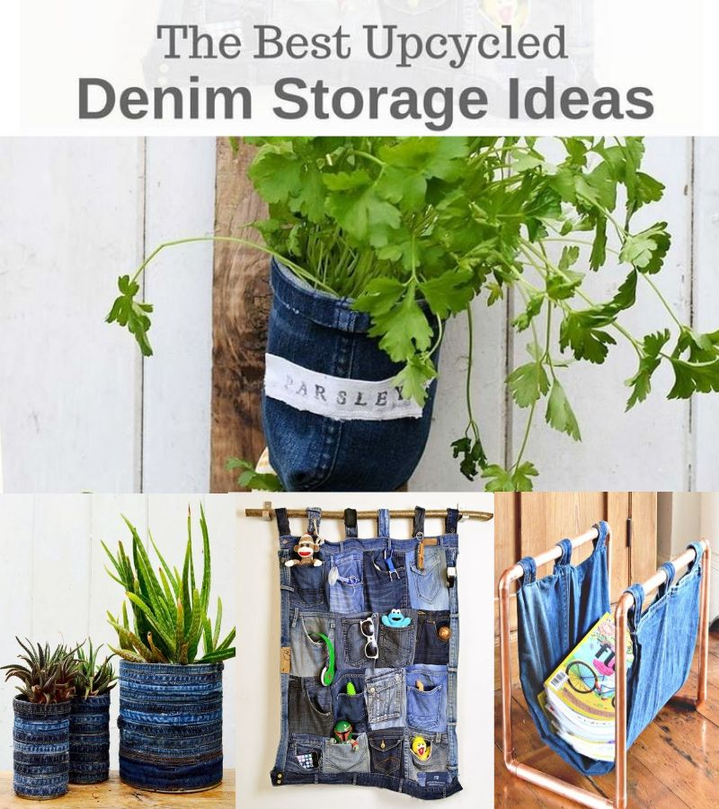Best Upcycled Denim Storage Ideas