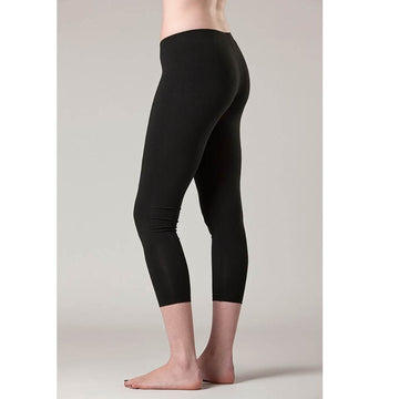 02 Bamboo 3/4 Cropped Leggings- Black