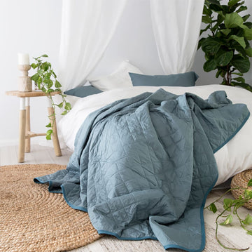 Bamboo Quilt - Teal