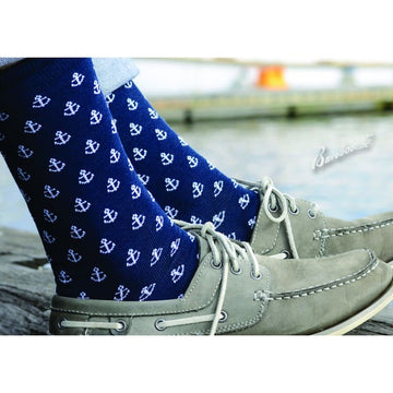 Anchors Away Men's Bamboo Socks