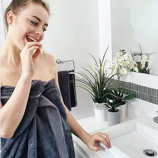 Bamboo Charcoal Bath Towel