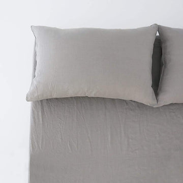 100% Linen Fitted Sheet - Slate Grey