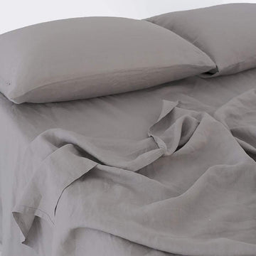 100% Linen Sheet Set - Slate Grey