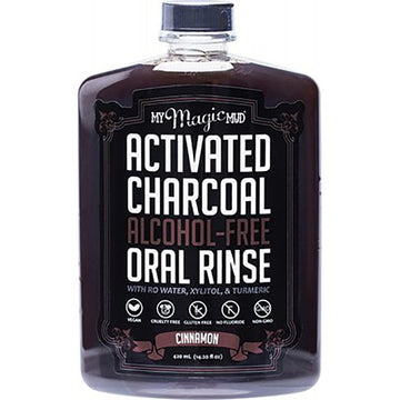 Activated Charcoal Alcohol-Free Mouthwash - 420g