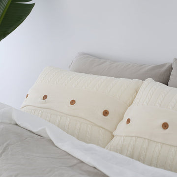 Bamboo Cable Knit Pillowcase Set