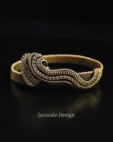 Tsunami -  Red Brass Woven Wire Bracelet