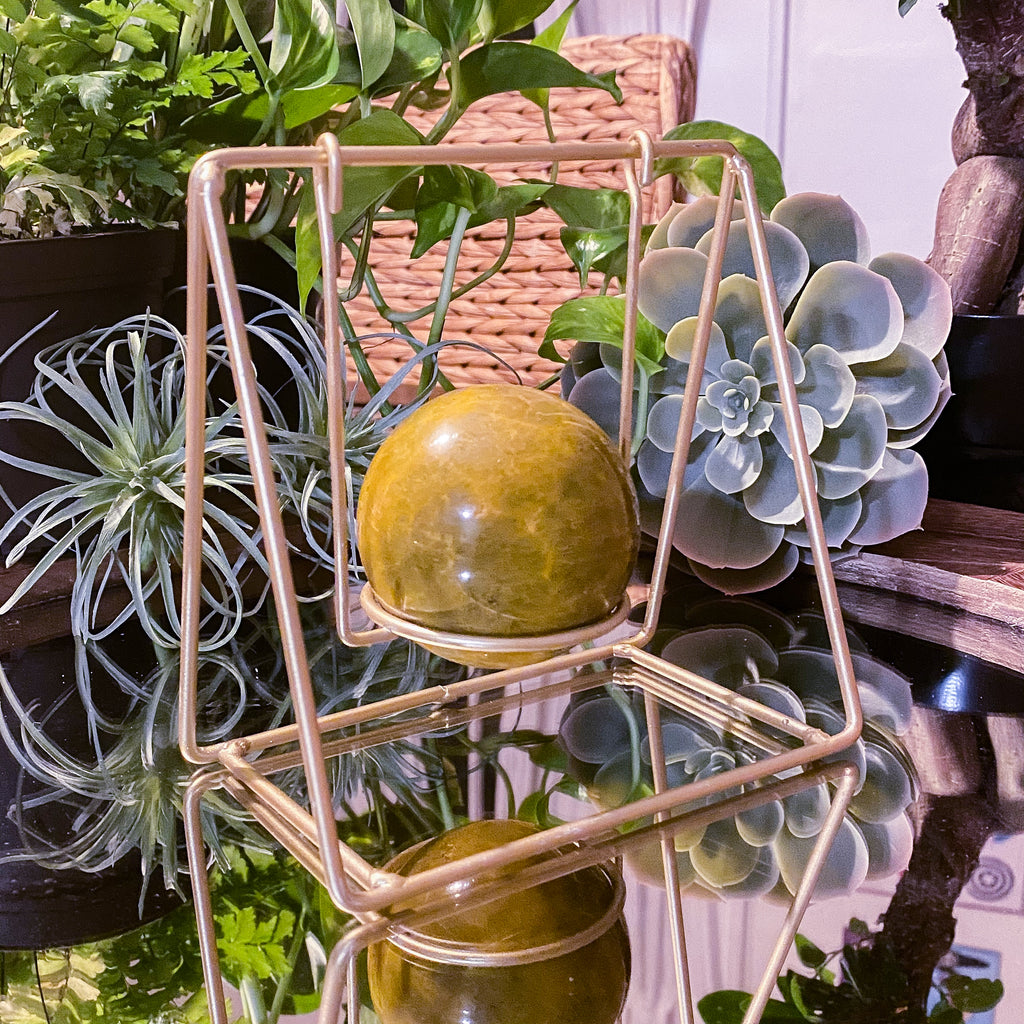 Gold Sphere Swing Stand