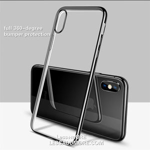 Ultra Thin Clear TPU Rubber Case For iPhone X/XS - Less+mORE