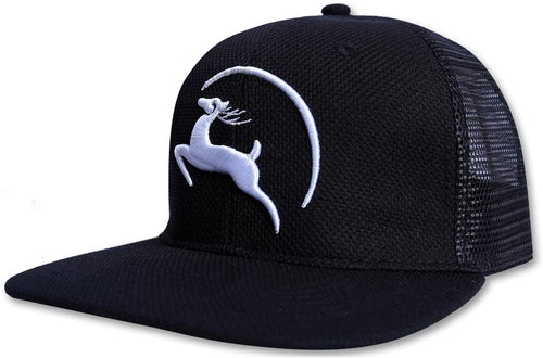 Jungle Deer Plain Baseball Cap -- Graphite Black - Less+mORE