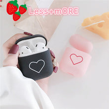 Load image into Gallery viewer, Cute Earphone Cover For Apple AirPods 1 2 Cases AirPods2 Protection Air Pods Matte Skin Frosted Hard Pink Love Heart Accessories - Less+mORE