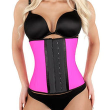 Load image into Gallery viewer, Kardashian's Favorite Shaped Latex Waist Trainer - Pink - Less+mORE