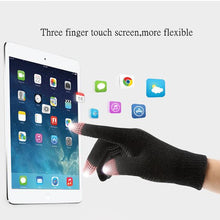 Load image into Gallery viewer, Knitted Wool Touch Screen Texting Functional Gloves - Light Grey - Less+mORE