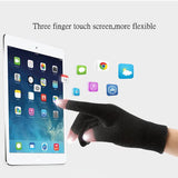 Knitted Wool Touch Screen Texting Functional Gloves - Black - Less+mORE