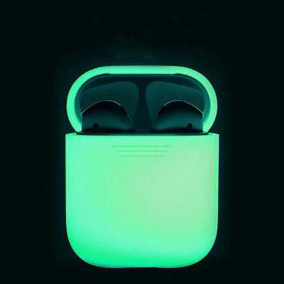 Luminous AirPods Silicone Cover Case Anti-lost Protective Cover Skin Case - Less+mORE
