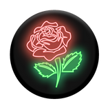 NeonRose_black_popsocket_phonestand