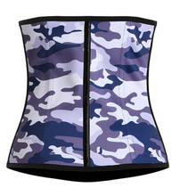 Load image into Gallery viewer, Grey Camo Camouflage Waist Trainer Corset - Less+mORE