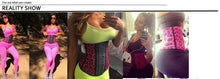 Load image into Gallery viewer, Pink Leopard Gym Hourglass Shaped Waist Trainer 3 Hook - Less+mORE