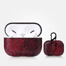 Load image into Gallery viewer, AirPods Pro Case - Snake Skin Pattern PU Leather-Silver - Less+mORE