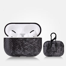 Load image into Gallery viewer, AirPods Pro Case - Snake Skin Pattern PU Leather-Blue - Less+mORE