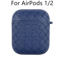 Load image into Gallery viewer, Earphone Case For Apple AirPods Pro/2 Soft TPU Cover ,Wireless Bluetooth Headphone Air Pods Weaving Grid Protective Case - Less+mORE